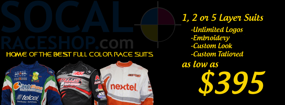 SoCal print shop full color printed or embroidery race suits and ...